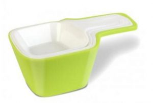 Zestaw miarek Livio, biało-zielony - Vialli Design